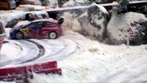 Snow rallying slot car track