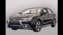 Novo Mitsubishi Lancer 2017: sedã com visual totalmente renovado aparece na China