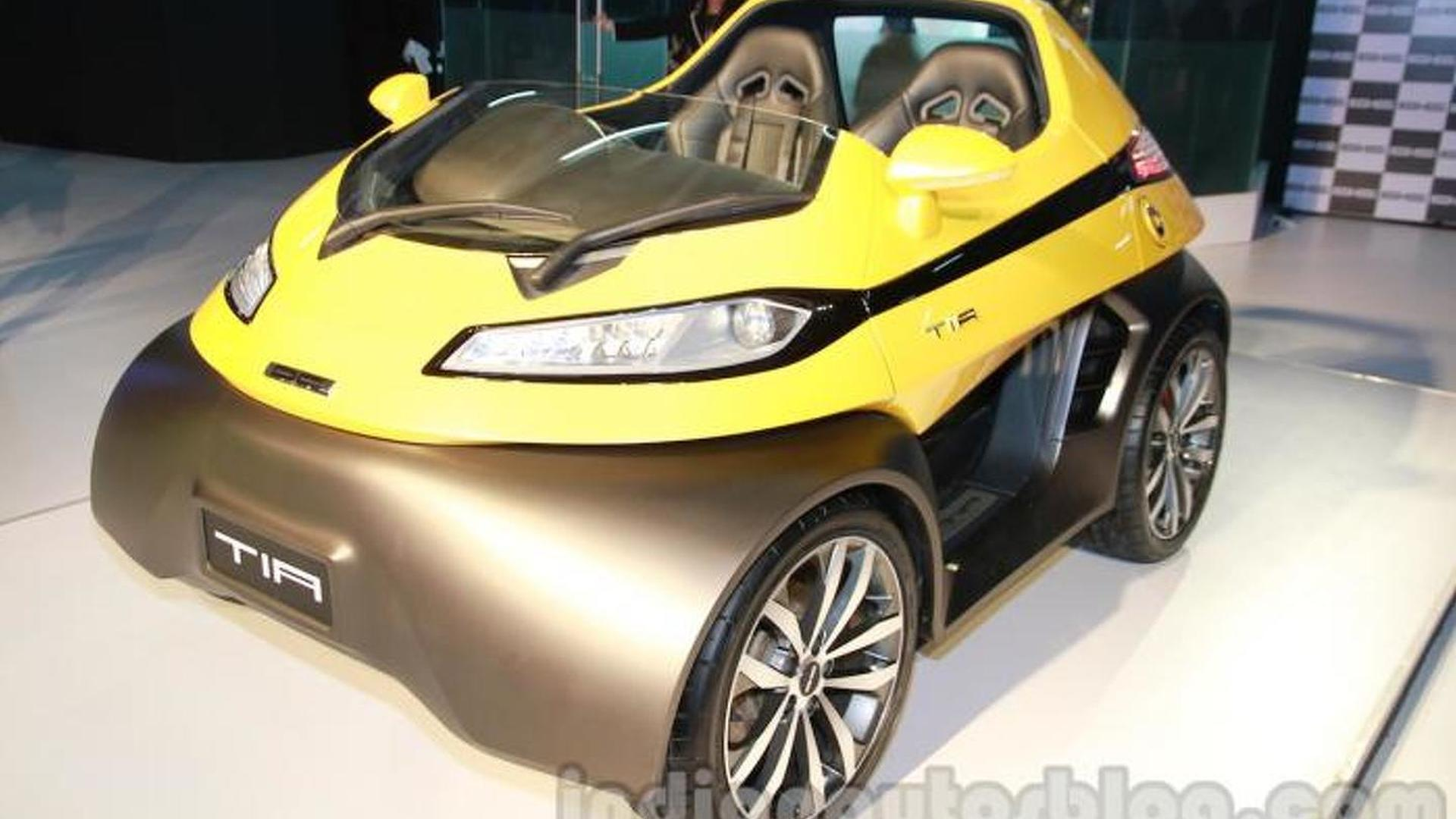 Dc Design Introduces Petite Two Seater Tia At Auto Expo Going