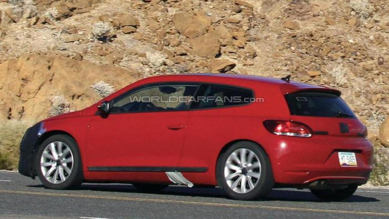 2014 Volkswagen Scirocco facelift spy photo