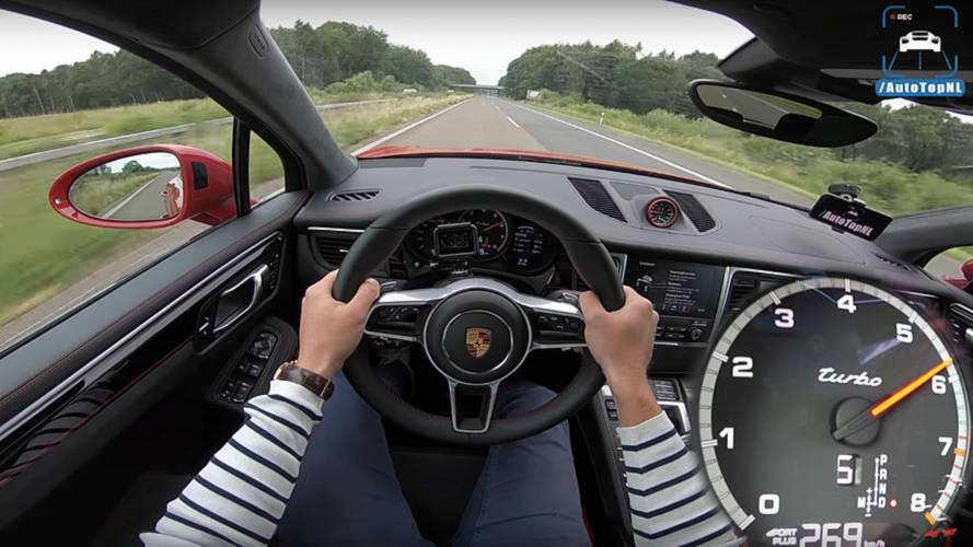 Porsche Macan Turbo Performance Pack Goes Flat Out On Autobahn