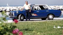 Sachinidis with 1976 Mercedes Benz 240 D