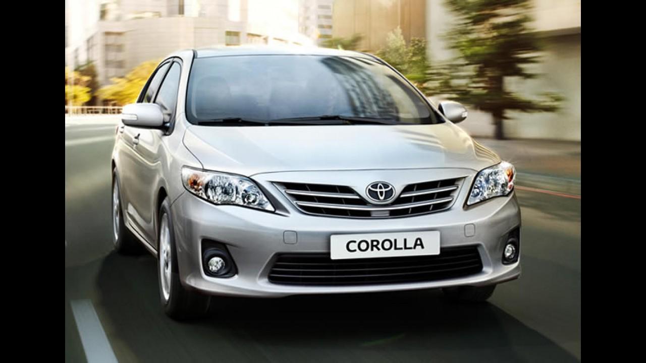 Brasil, resultados de abril: Corolla lidera, Cerato supera Civic e Jetta entra no top 5