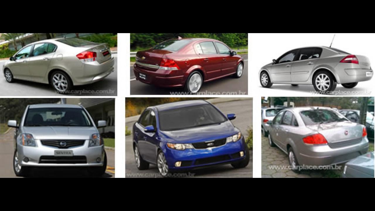Enquete - Opinião do leitor: Qual é o melhor sedan médio de até R$ 55 mil?
