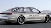 Next generation Audi A6 rendered with Prologue concept influences
