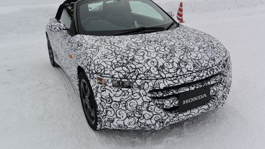 Honda reveals camouflaged S660 production prototype in Japan