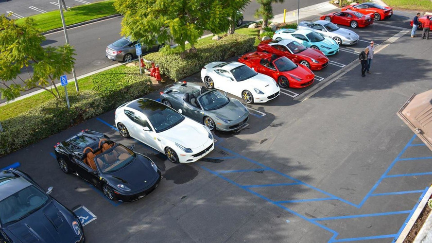 Ferrari 458 Speciale Tiffany Blue shows up at Ferrari of Newport Beach gathering