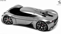 Koenigsegg Rage rendering / Maher Thebian