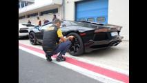 Lamborghini Aventador e Pirelli Pzero Corsa a Vallelunga