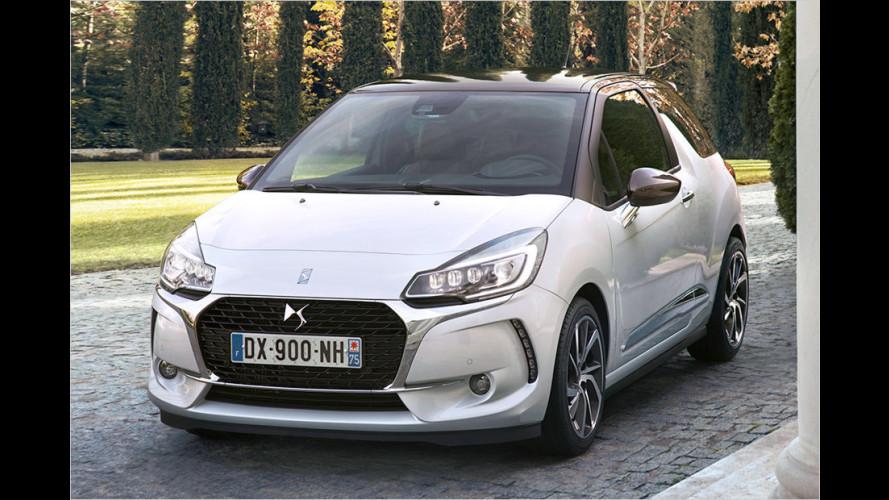 Der DS 3 legt den Citroën-Doppelwinkel ab