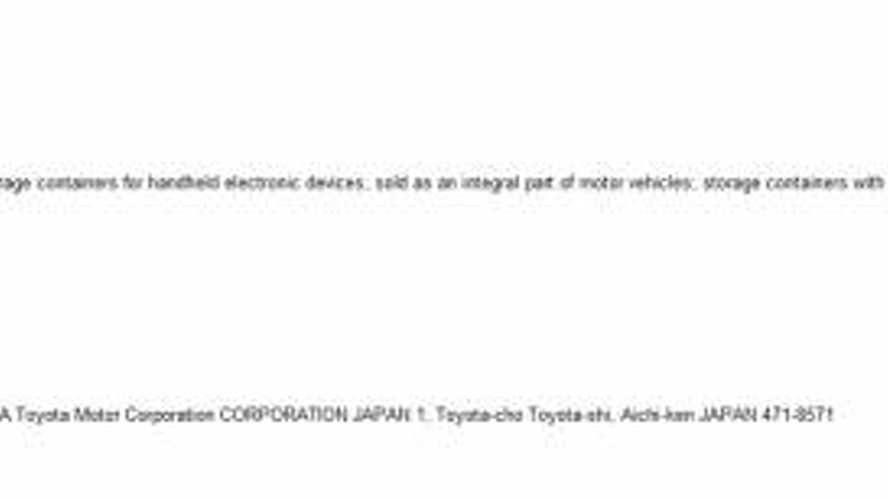 Toyota eBin trademark application 27.7.2012