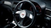 Subaru Impreza WRX STI spec C leather wrapped steering wheel - red stitch
