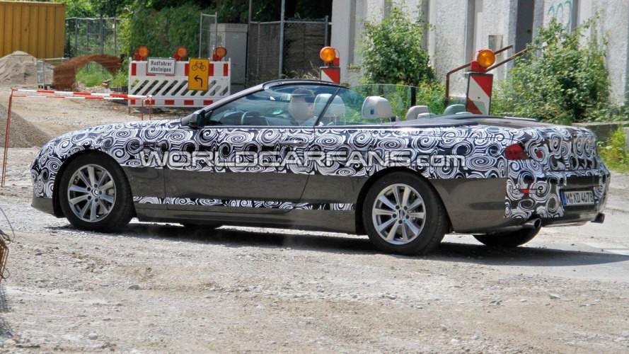 BMW 6 Series Convertible spied with the top down