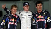 Sebastian Vettel (GER), Nico Hulkenberg (GER), and Mark Webber (AUS), Formula 1 World Championship, Rd 18, Brazilian Grand Prix, Saturday Qualifying, 06.11.2010 Sao Paulo, Brazil