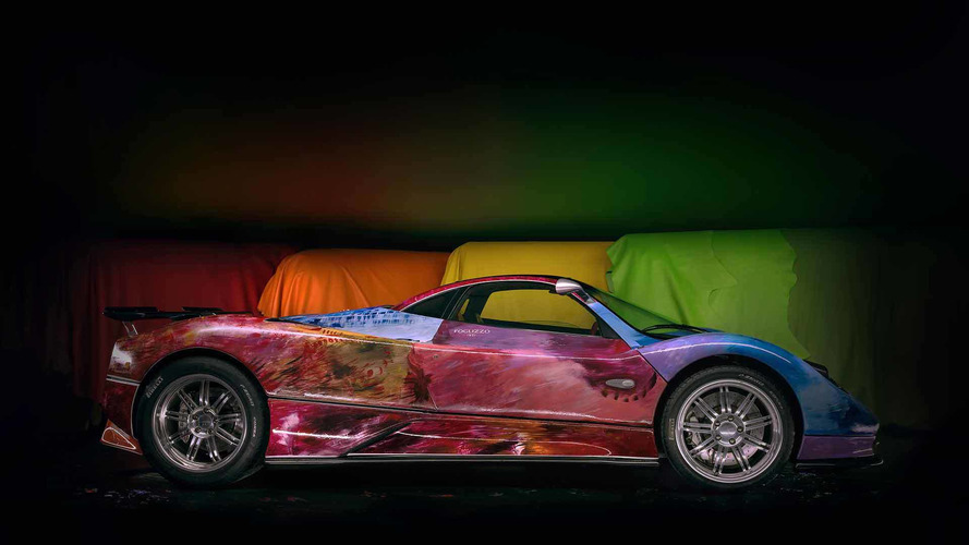 Pagani Gets Art Car Treatment With Colorful, Hand-Painted Zonda