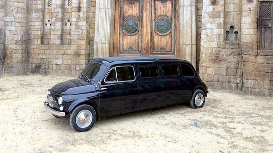 À vendre,  Fiat 500 limousine, ancienne star de cinéma