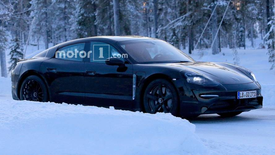 Porsche Mission E Spied Getting A Winter Workout In The Snow