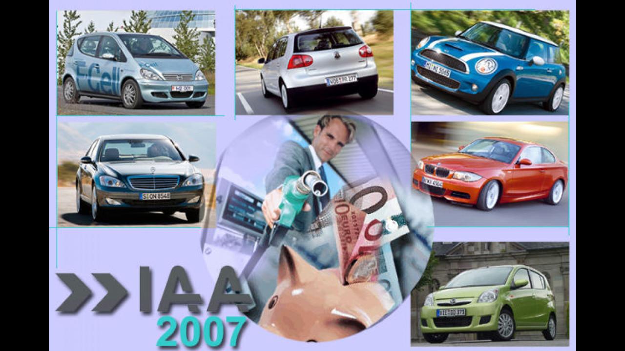 Die Spritsparer der IAA 2007