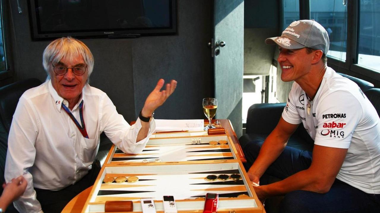 Bernie Ecclestone and Michael Schumacher 31.07.2010 Hungarian Grand Prix