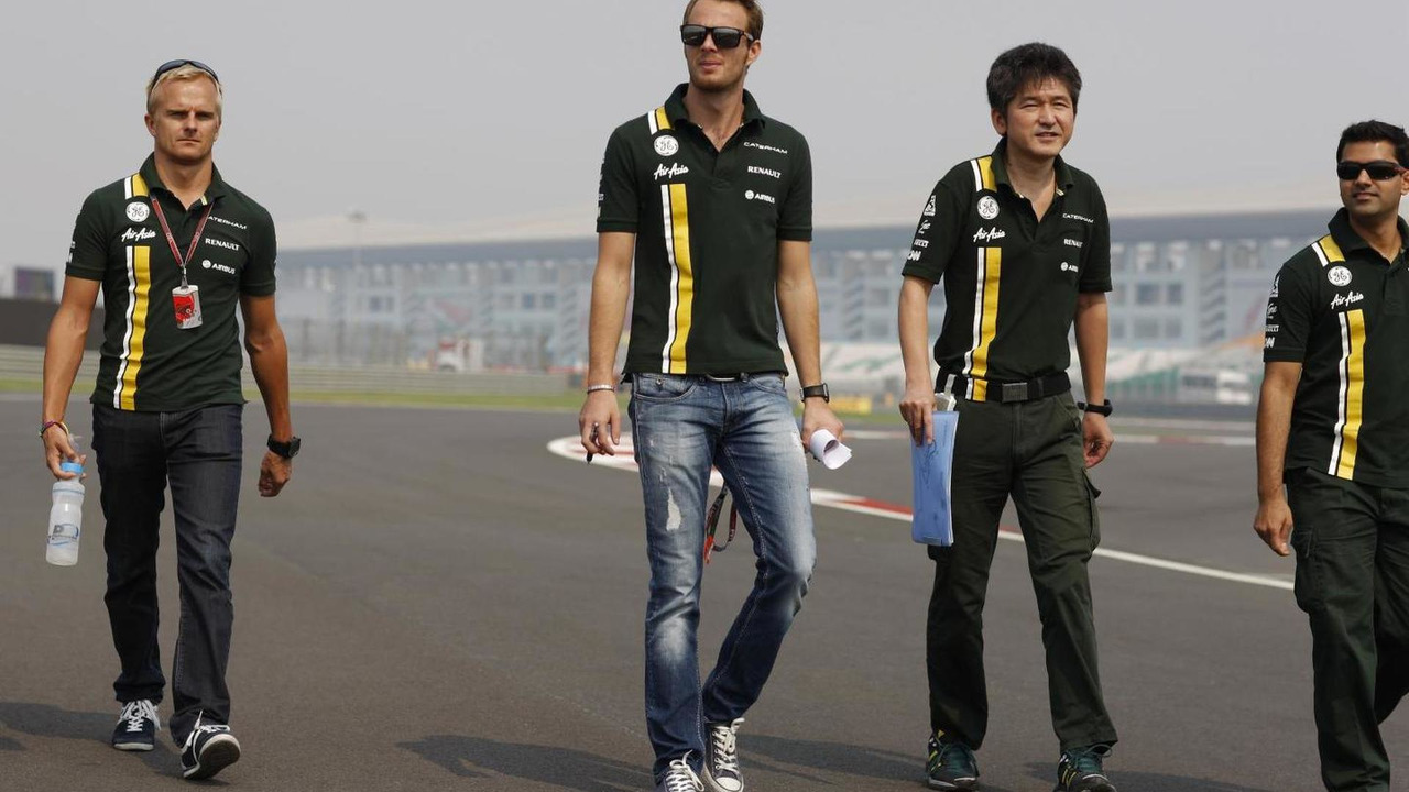 Heikki Kovalainen and Giedo van der Garde 25.10.2012 Indian Grand Prix