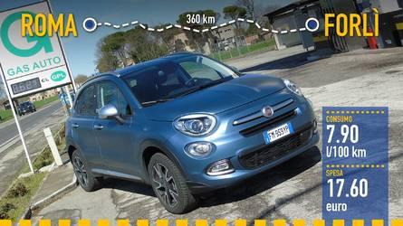 Fiat 500X GPL, la prova dei consumi reali