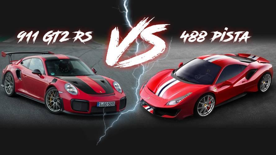 Ferrari 488 Pista vs. Porsche 911 GT2 RS: la batalla de los números