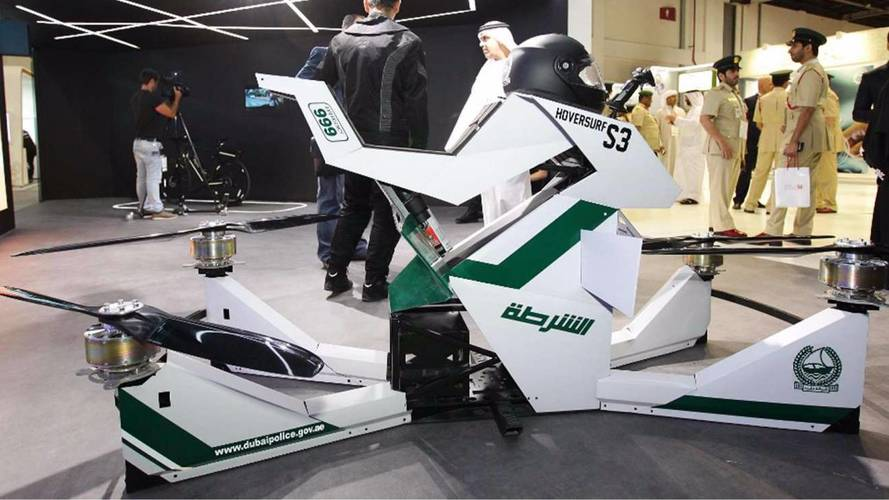 La police de Dubaï s'offre... une moto volante !