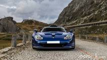 Porsche 911 GT1 in the alps