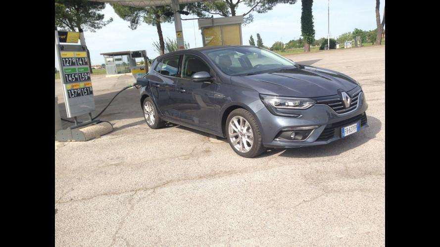 Renault Megane dCi 110, la prova dei consumi reali