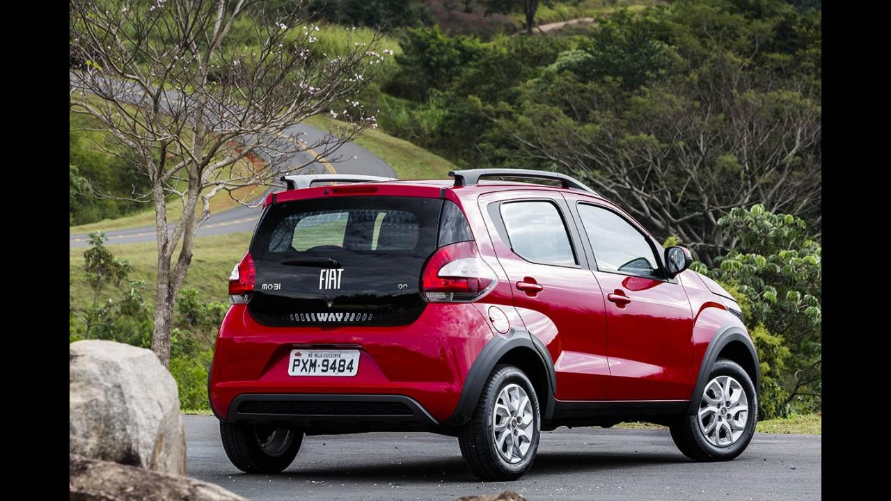 Fiat Mobi sai na frente do VW up! nas vendas de julho; Etios passa Palio