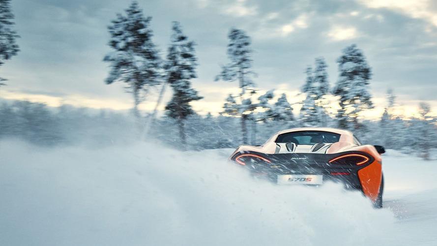 McLaren 570S ice