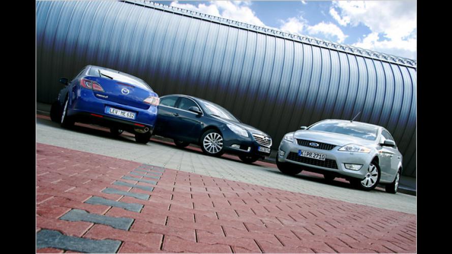Zeit-Zeichen: Drei starke Mittelklasse-Diesel im Vergleich