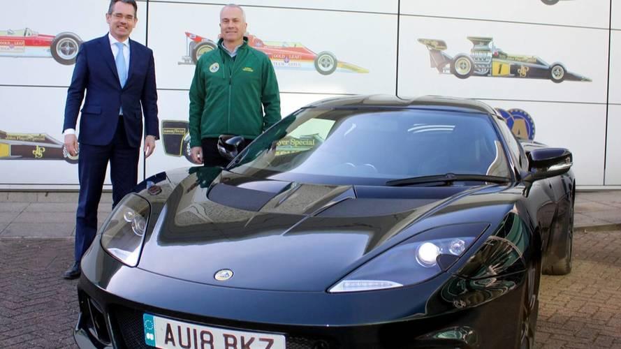 Une Lotus Evora GT410 Sport pour Clive Chapman