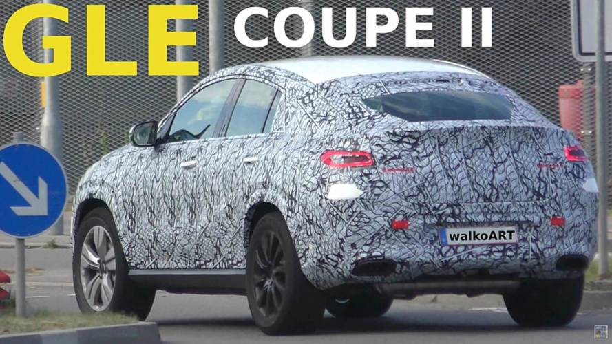 2020 Mercedes GLE Coupe screenshots from spy video