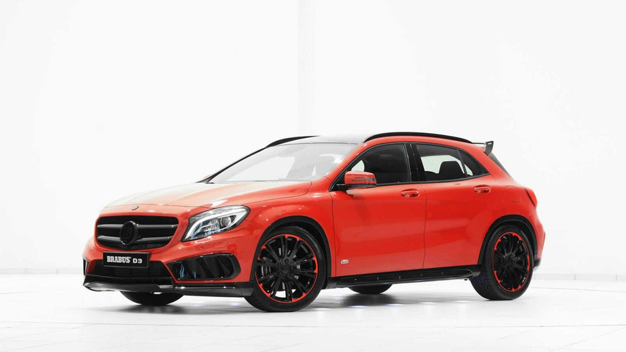 mercedes benz gla with amg sports package modified by brabus. Black Bedroom Furniture Sets. Home Design Ideas