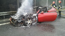 Ferrari FF fire in Poland 28.5.2012