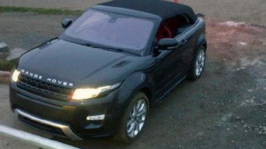 Range Rover Evoque Cabriolet Concept caught with top up