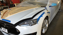 Tesla Model S stretched by Big Limos