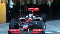 Jenson Button (GBR), McLaren Mercedes, MP4-25 testing, 03.02.2010, Valencia, Spain