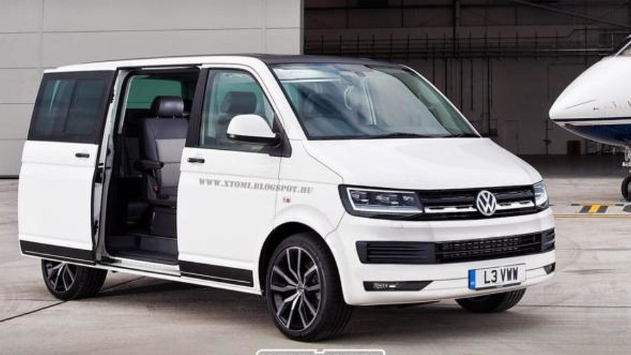 Volkswagen T6 rendered based on Tristar concept