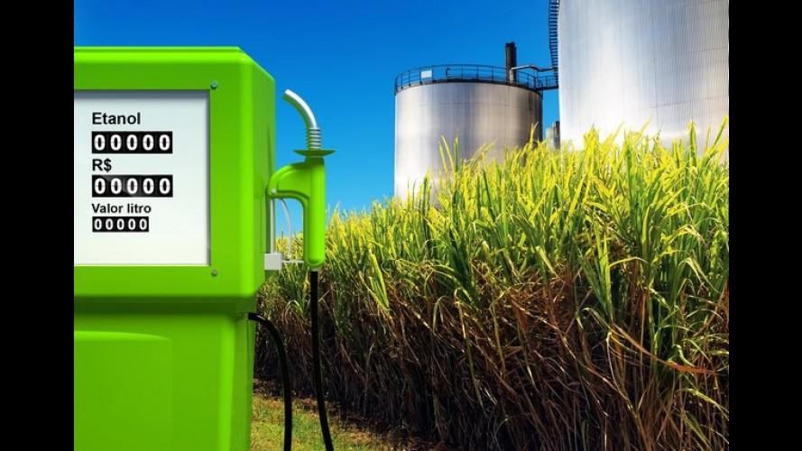 Preços do etanol caem 6,8% no Brasil, segundo números da ANP