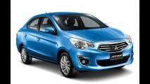 Mitsubishi Attrage é o nome do estranho sedã derivado do Mirage