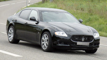 Maserati Quattroporte mule spied testing new engine 05.10.2011