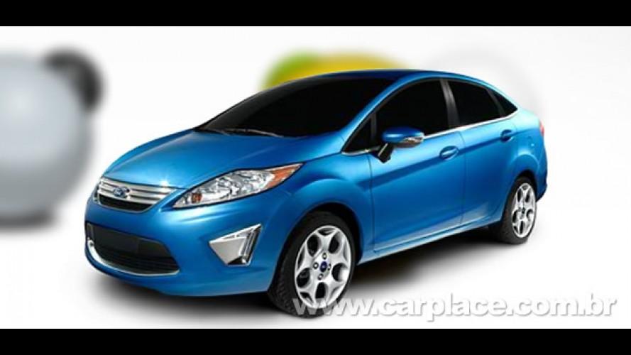 Novo Ford Fiesta Sedan e Hatch aparecem com nova grade e para-choque no Canadá