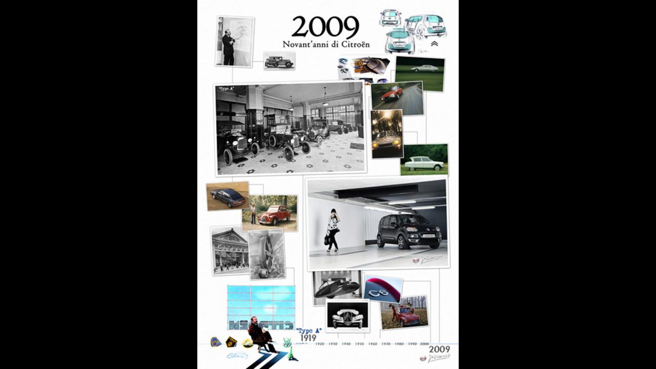 Calendario Citroen Storiche 2009