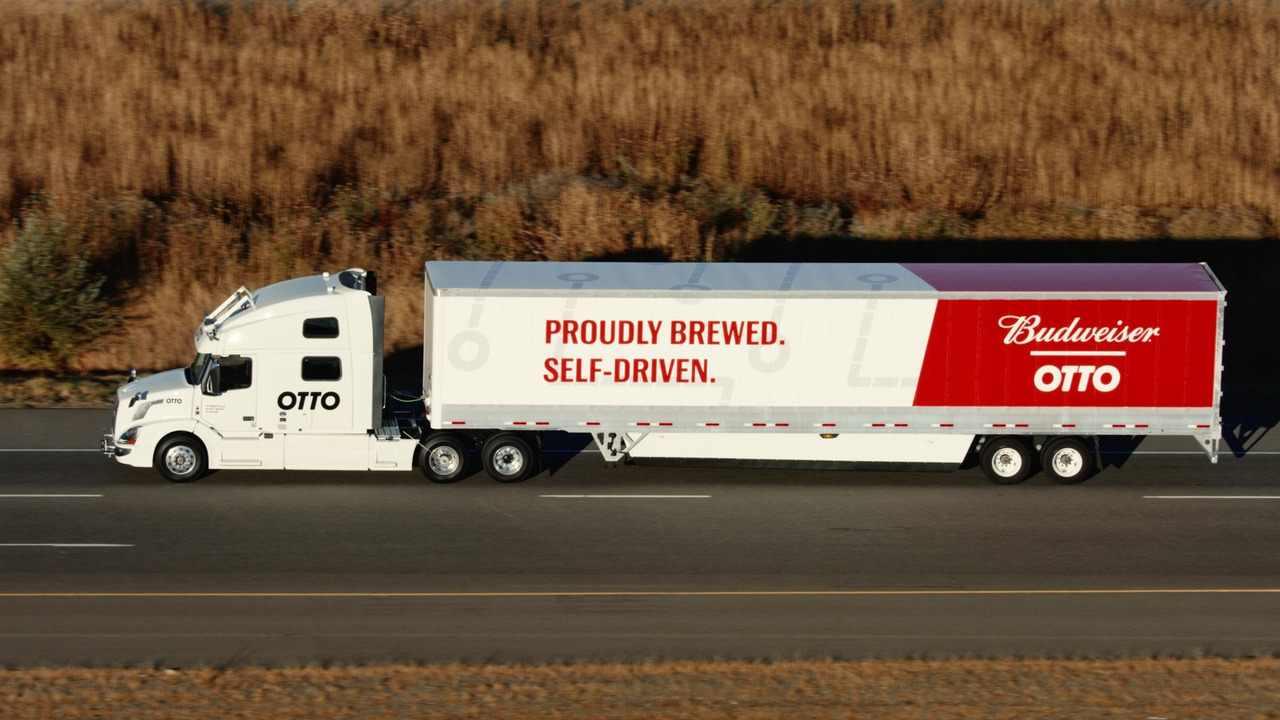 Uber makes first autonomous beer run with self-driving delivery truck