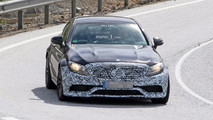 2018 Mercedes-AMG C63 Coupe facelift spy image