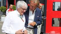 Bernie Ecclestone, with Luca di Montezemolo, Ferrari President