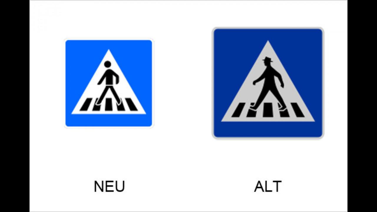 Fußgängerüberweg (Rechtsaufstellung)