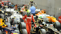 Fernando Alonso in Parc Ferme, Singapore Grand Prix, 23.09.2012